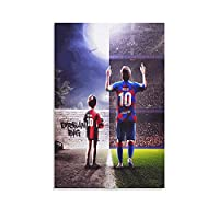 Lionel Messi Dream Football Superstar Posterキャンバスポスター壁アートの装飾リビングルームの寝室の装飾のための絵画の印刷キャンバスポスター寝室の装飾スポーツ風景オフィスルームの装飾ギフト 16x24inch(40x60cm)