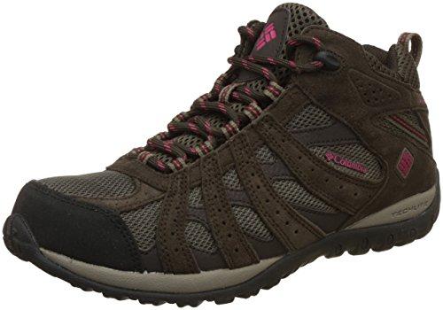 Columbia Women's Redmond Mid Waterproof Trail Shoe, Mud/Red...