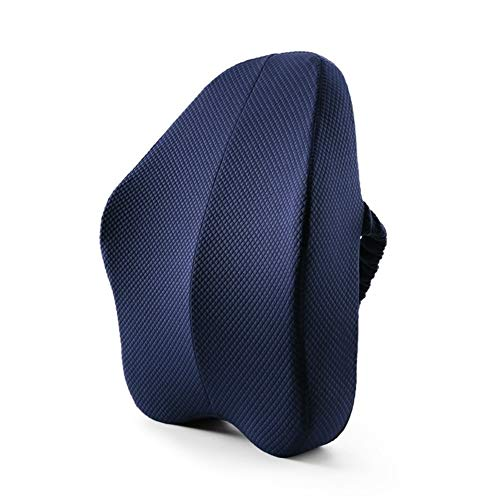 ZHAGNFL Office Chair Support Full Back Lumbar Cushion Best Premium Memory Foam Pillow Ergonomic Relieve Sciatica Lower Back Pain Coccyx (433713cm) (Color Name : Blue)
