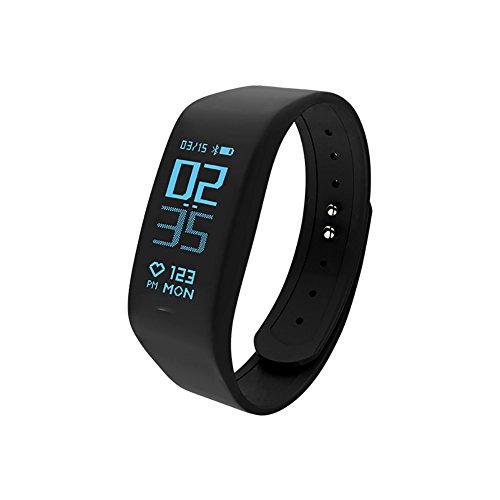 DW&HX Fitness-Tracker,Smart-Armband-Uhr Kontinuierliche dynamische Herzfrequenz-Hand-Ring Bewegung Step Counter Wasserdicht-A