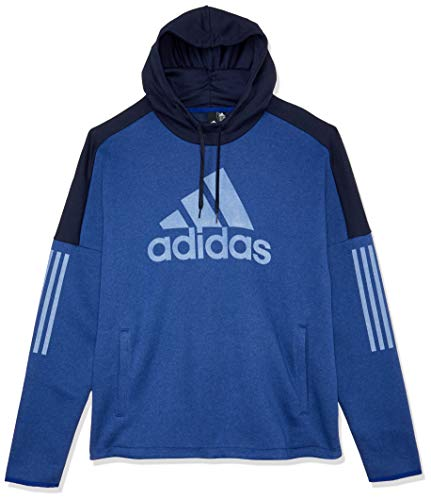 adidas Herren Sports ID Logo PO Fleece Kapuzen-Sweatshirt, Mystery Ink Mel./Legend Ink, XL