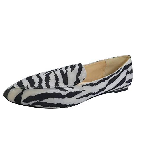 iYmitz Pantoletten Damen Sommer Leopard Schlangenhaut Drucken Pu Flache SandalettenSommer rutschfeste Neue Tiermuster Mode Hausschuhe Schuhe
