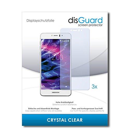 disGuard® Bildschirmschutzfolie [Crystal Clear] kompatibel mit Medion Life X5020 [3 Stück] Kristallklar, Transparent, Unsichtbar, Extrem Kratzfest, Anti-Fingerabdruck - Panzerglas Folie, Schutzfolie