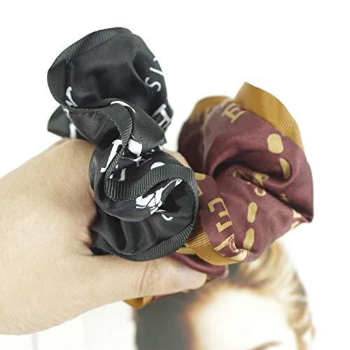 Weier. Ben Women's haar ring - gedrukte vrouwen haarband Retro kunstmatige zijde oude bloem stretch haar hoofddeksel