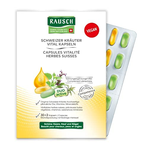Capsule vitalità alle erbe svizzere per 3 mesi (90 x 2) Rausch