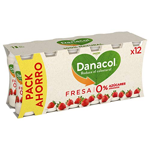 DANONE DANACOL yogur líquido fresa pack 12 unidades 100 g