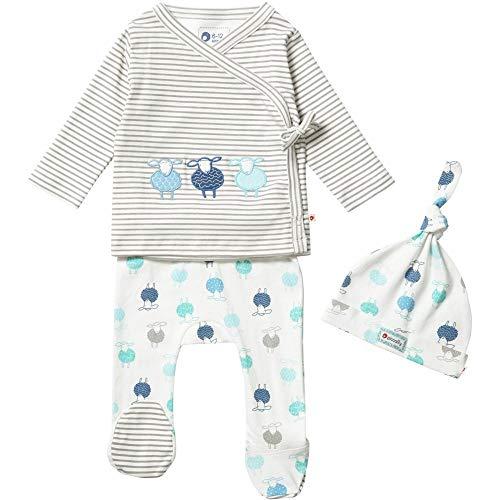 Piccalilly Ropa de bebé unisex, 3 piezas, regalo biológico, diseño de ovejas Blanco recién nacido
