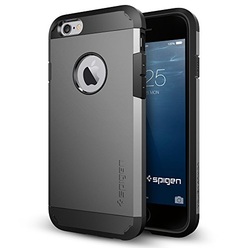 Spigen Tough Armor Designed for Apple iPhone 6sCase / Designed for iPhone 6 (2014) - Gunmetal