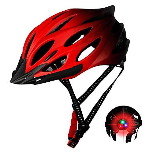 Casco de bicicleta con luces traseras casco de bicicleta de carretera de...