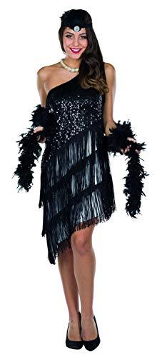 Rubie's Rubies Kostüm Charleston Kleid schwarz/weiß Damen Fasching/Karneval - 36