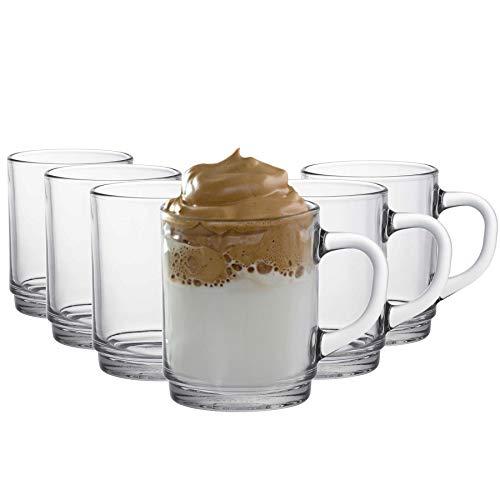 Duralex Versailles - Juego de Tazas para café o té - Transparente...