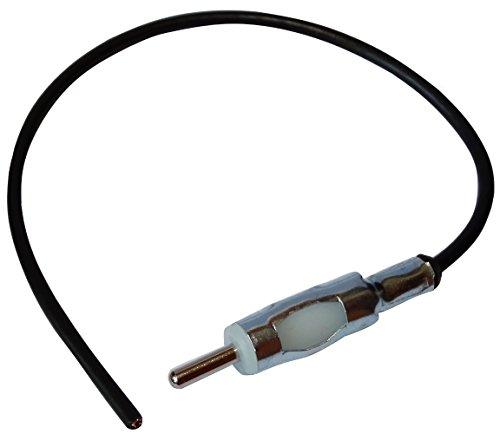 AERZETIX: Connecteur Adaptateur Fiche Prise Antenne Autoradio DIN mâle précâblé 20cm pour Auto Voiture