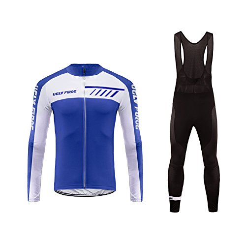 Uglyfrog Frühling/Herbst Männer Radfahren Kleidung Set Fahrrad Anzug Outdoor Langarmtrikot+ Hose Atmungsaktiv Schnell Trocken