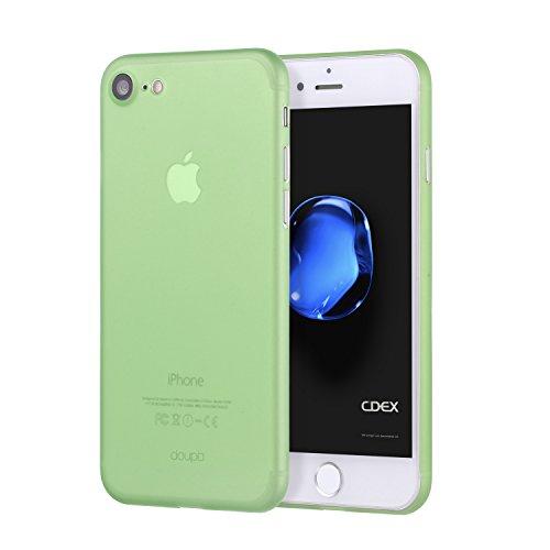 doupi UltraSlim Funda para iPhone SE (2020) / iPhone 8/7 (4,7 Pulgadas), Finamente Estera Ligero Estuche Protección, Verde