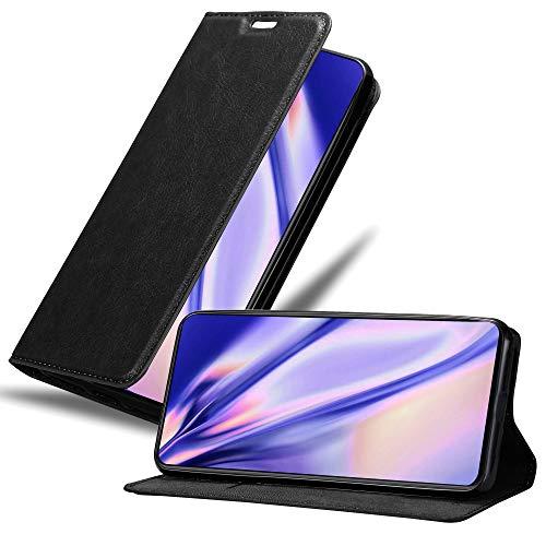Cadorabo Hülle für Xiaomi Mi Mix 3 in Nacht SCHWARZ - Handyhülle mit Magnetverschluss, Standfunktion & Kartenfach - Hülle Cover Schutzhülle Etui Tasche Book Klapp Style