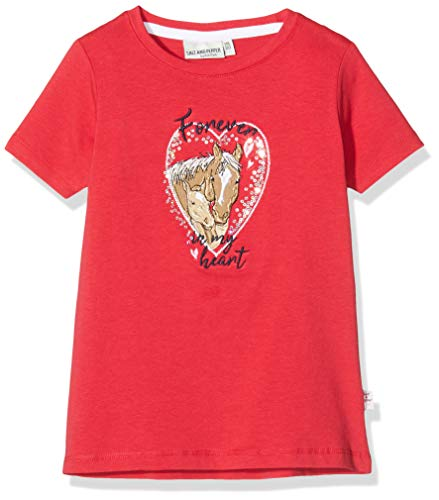 Salt & Pepper Mädchen 03112264 T-Shirt, Rot (Lollipop Red 344), 116 (Herstellergröße: 116/122)
