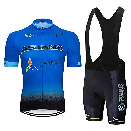 Abbigliamento Ciclismo Uomo Maglia Ciclismo Estivo e Pantaloni/Salopetto Traspirante Imbotiti 3D Gel Body Ciclismo Completo Ciclismo Uomo