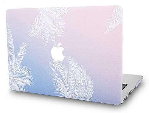 KECC Laptop Case for MacBook Pro 13' (2020/2019/2018/2017/2016) Plastic Hard Shell Cover A2338 M1 A2289 A2251 A2159 A1989 A1706 A1708 Touch Bar (Blue Feather)