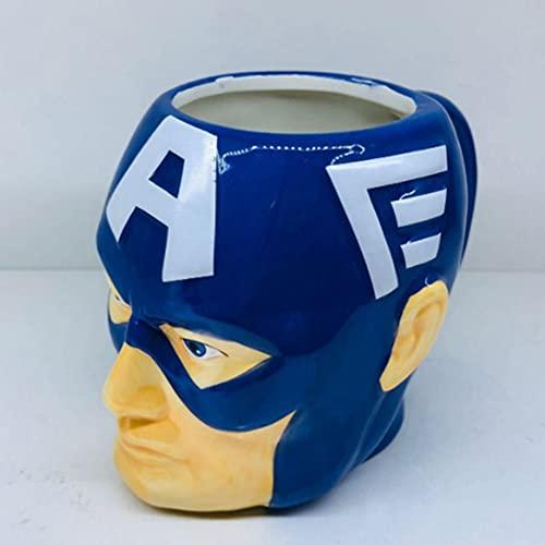 Towel Rings Taza De Cerámica del Capitán América Iron Man Hulk Taza De Café Taza De Los Vengadores Taza De Desayuno De Anime 301-400ml