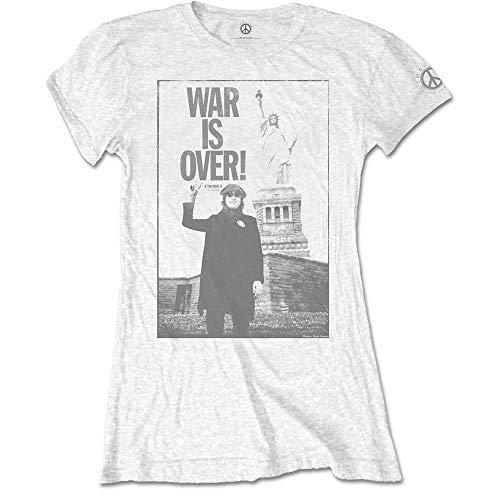 John Lennon Liberty Camiseta, Blanco (White White), 40 (Talla del Fabricante: Large) para Mujer