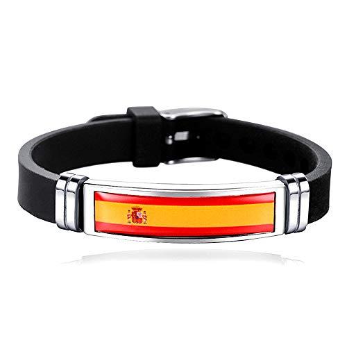 Bandera estilo España deportes pulsera ajustable viaje recuerdo regalo moda pulsera