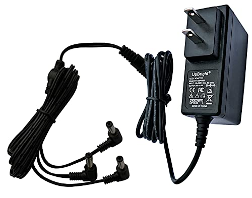 UpBright AC/DC Adapter Compatible with Lemax Lighted Accessory 4.5V # 74706 Christmas Village Houses Playground Display 3 Output Jack 34988A Spooky Town Collection 4.5 Volts 4.5VDC - 5V Power Supply