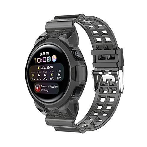 Funda protectora de TPU compatible con la correa de 46 mm Huawei Watch 3, funda protectora impermeable a prueba de golpes compatible con la correa deportiva Huawei Watch 3 Pro de 48 mm