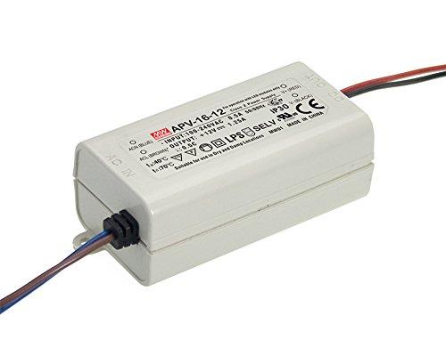 MEAN WELL, Cambiar La Fuente De Alimentación,Converter Para la luz De Tira Flexible Del LED, El Transformador, 110/220V AC-DC Switching Power Supply 16W 24V 0.67A (APV-16-24)