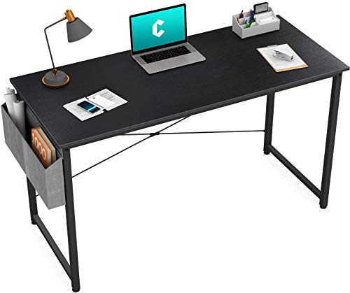 Cubiker Writing Computer Desk 39' Home Office Study Desk, Modern Simple Style Laptop Table with Storage Bag, Black