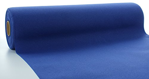 Sovie HORECA Linclass® Airlaid Tischläufer 40 cm x 24 m   Tischdecken-Rolle stoffähnlich   praktische Einmal-Tischdecke für Hochzeit oder Partys   Royal-Blau