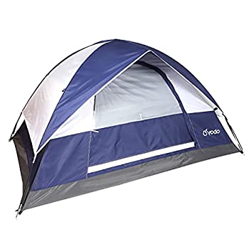 yodo Lightweight 2 Person Camping Backpacking Tent-3 Season Waterproof Dome Tent with Rain Fly for Outdoor Hiking Mountaineering,Navy White
