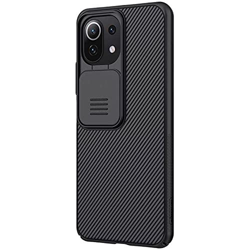 Xiaomi Mi 11 Lite 専用(国内版対応)カメラ保護カバー付きケース (NILLKIN Slide Camera Protection Hard Back Cover Case) (ブラック)