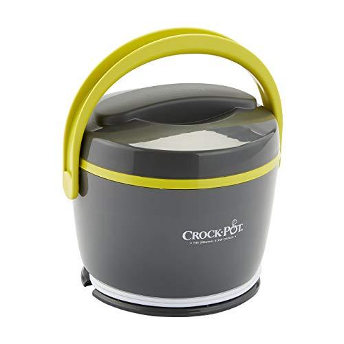 Crock-Pot Lunch Crock Food Warmer, Grey & Lime (Renewed)