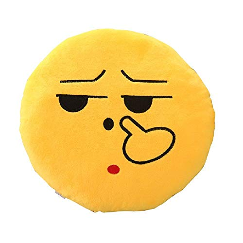 Flipping Off Pillow 12.5 Inch Large Yellow Smiley Emoticon