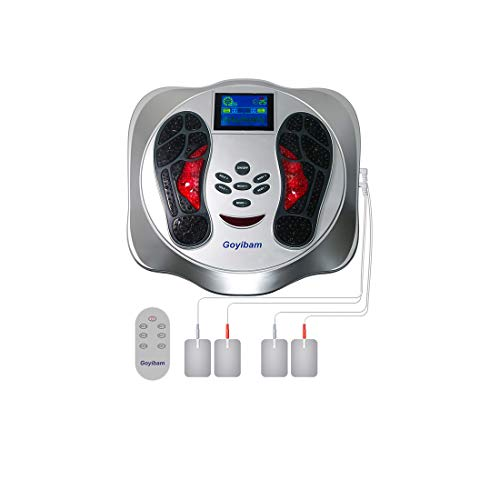 FDA Approved Foot Circulation Device, Nerve Muscle Stimulator, EMS Foot Massager for Neuropathy, Relieves Feet Legs & Ankles Pains, Relaxes and Massages Body with TENS Unit (Gray)