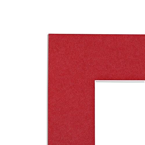 Passepartout 30 x 40 cm mit individuellem Zuschnitt - mit Schrägschnitt (F18 Rot)