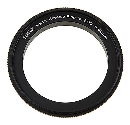 Macro - Anillo inverso de 62 mm compatible con Canon RF, adaptador de rosca de filtro de 62 mm para cámaras Canon RF Mount Mirrorless