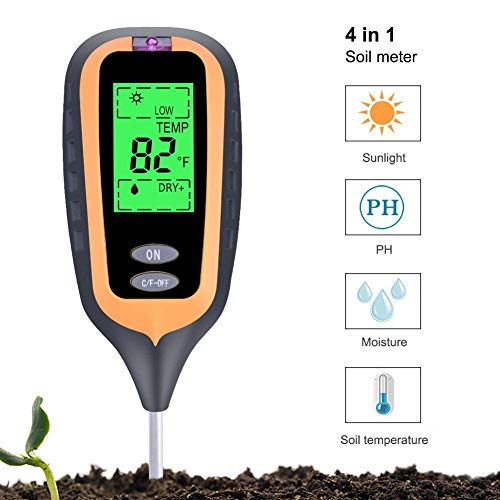 Why Choose EXDJ Soil Survey Instrument New Big LED 4 in 1 Plant Soil PH Moisture Light Soil Meter Th...