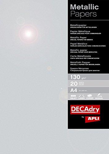 APLI SMA7071- Papel metalizado 130gr_20 Hojas ⭐