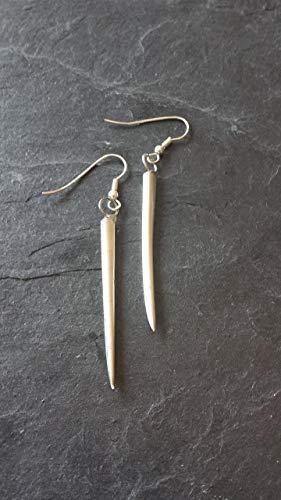 Ohrringe aus Silbergabel