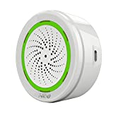 NEO Z-Wave Plus Siren Alarm with Strobe alerts, Support USB Charge and with Back up Battery Works with SmartThings, 105dB