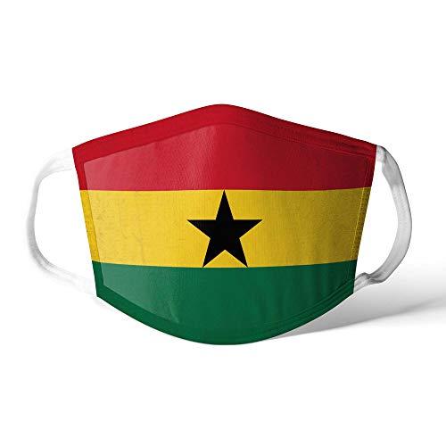 M&schutz Maske Stoffmaske Groß Notleidende Flagge Ghana/Ghanaer Wiederverwendbar Waschbar Weiches Baumwollgefühl Polyester Fabrik