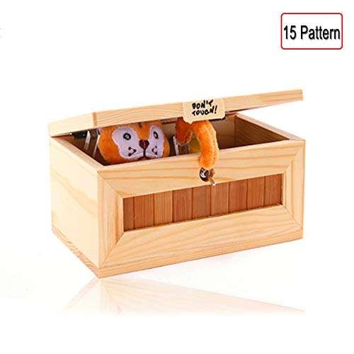 EASTBULL Pointless Box Dont Touch Useless Box or Wooden Useless Machine Do Nothing Box Tiger Toys, for Stress-Release and Perfect for Home & Office Desk (Tiger)