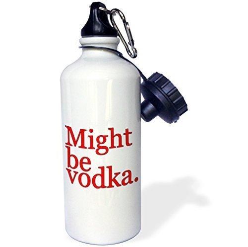 Cukudy sport waterfles geschenk, kan worden wodka rood wit roestvrij staal waterfles voor vrouwen mannen 21 oz