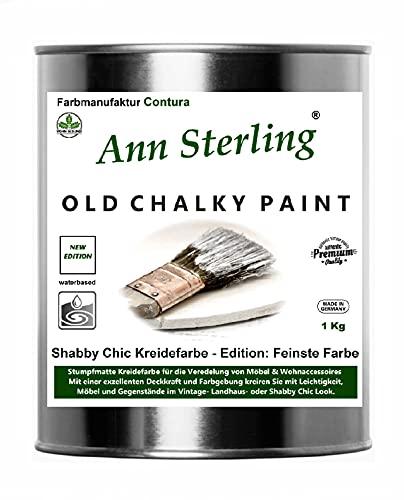 Ann Sterling Kreidefarbe Shabby Chic Farbe: Dark Stone / Anthrazit 1Kg. / 750ml. Lack Chalky Paint