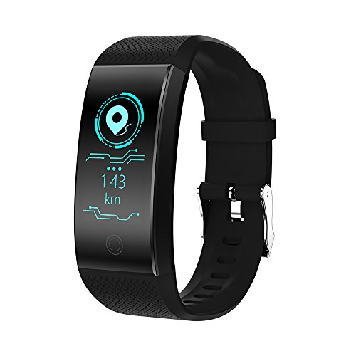 Fitness Tracker HR, Color Screen Heart Rate Monitor Blood Presure Smart Bracelet Wristband, Sleep Monitor Pedometer Sport Waterproof IP68 Activity Tracker for iPhone Android Smartphone