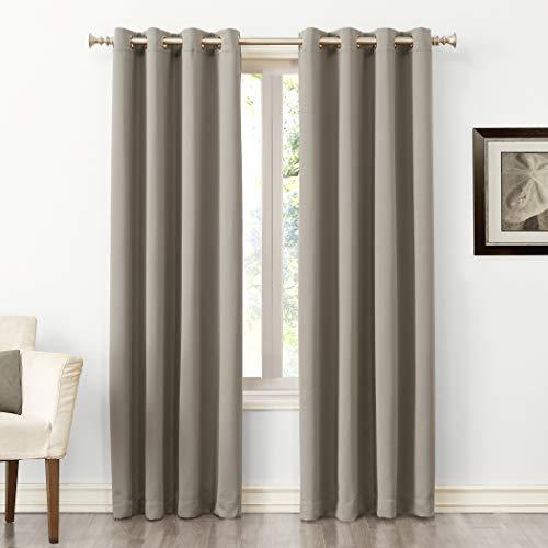 "108""x54"" Kenneth Energy Saving Blackout Grommet Top Curtain Panel Beige - Sun Zero"
