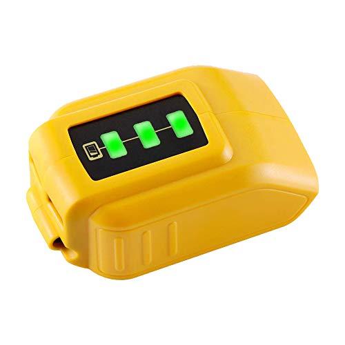 TenHutt 12V/20V Max USB Power Source Replacement for Dewalt DCB090 Converters for Lithium Battery
