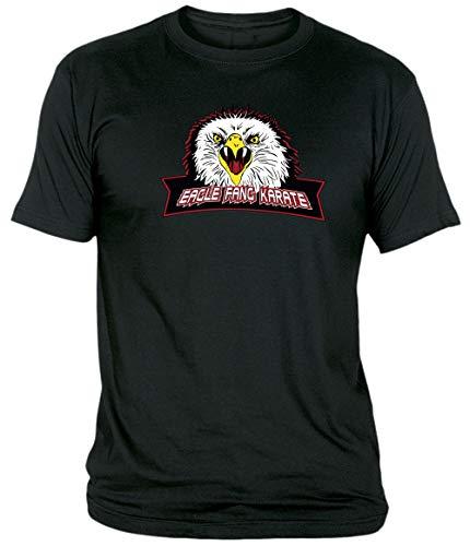 Camisetas EGB Camiseta Adulto/niño Colmillo De Águila Eagle Fang Karate Kid ochenteras 80´s Retro (Negro, 9-11 años)