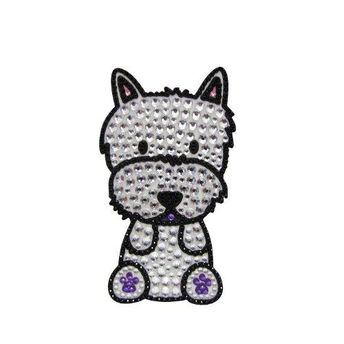 FouFou Dog Sticker à Strass West Highland Terrier